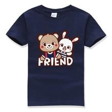 kawaii cartoon animal tops tee shirt children informal o neck pullovers 2017 summer season new vogue t shirts boys t-shirt homme shirt mma