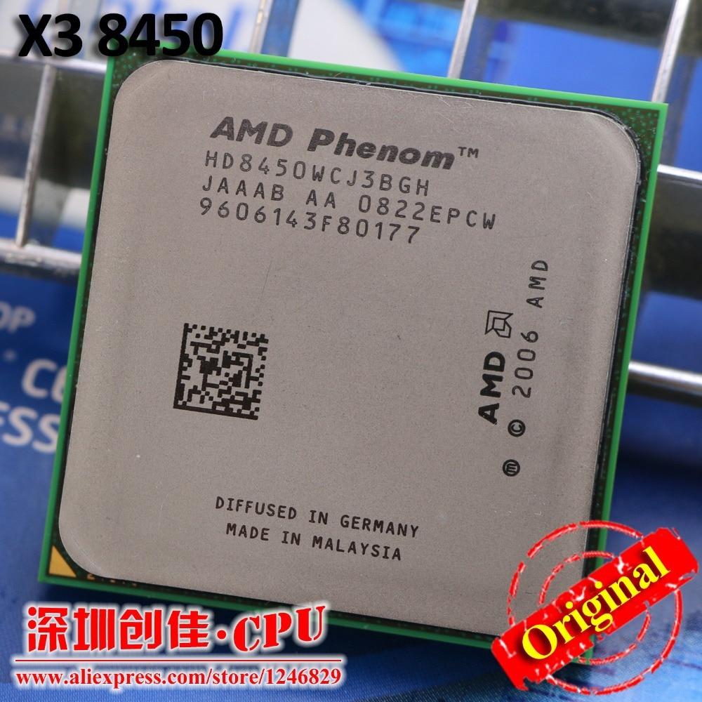 AMD Phenom II X3 8450 processore CPU 2.1G Socket am2 + Triple-CORE/2 MB L3 Cache usato