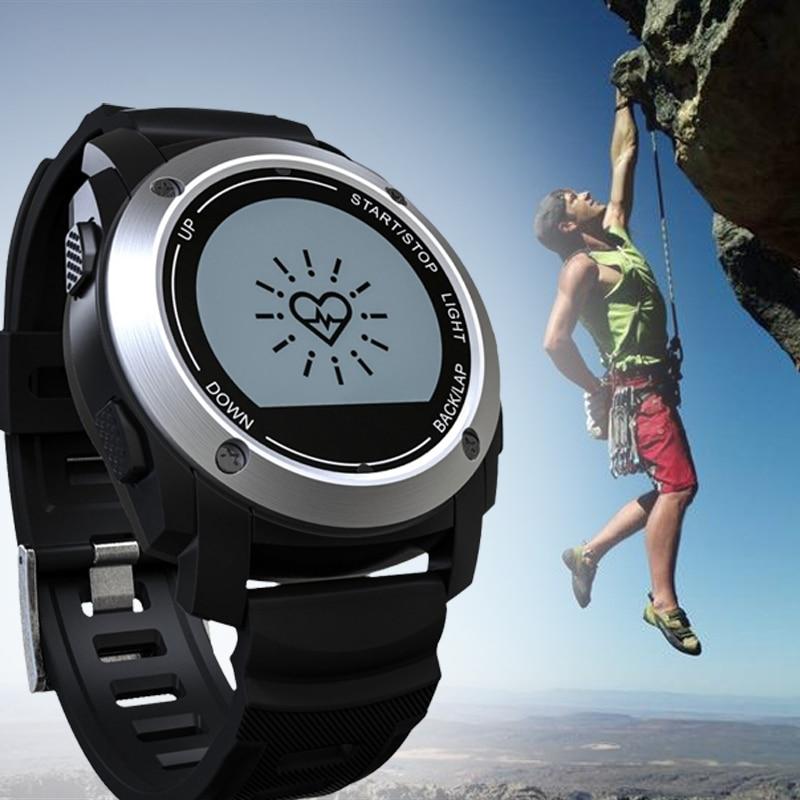 Professional outdoor activities GPS Tracker Smart Watch Heart Rate Monitor Bluetooth Sync Air Pressure Altitude Meter Monitor smart baby watch q60s детские часы с gps голубые