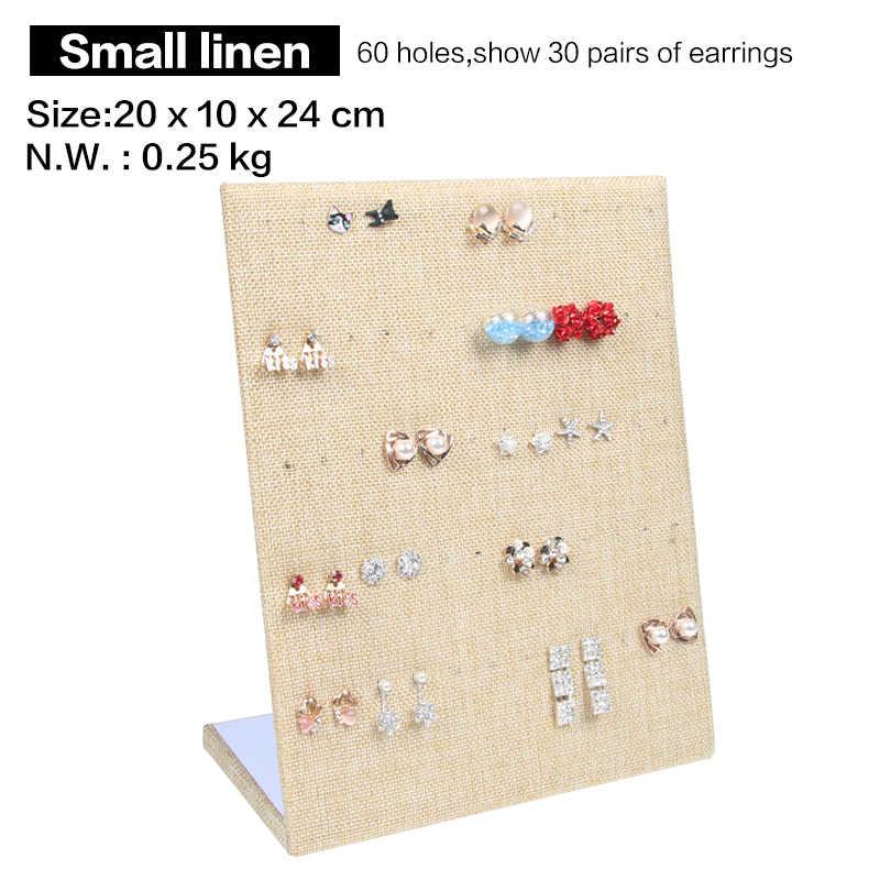 30 paar Ohrring Display Stand Halter L Form Samt Stud Ohrringe Display Rack Pin Ohr Ring Schmuck Lagerung Halter regal