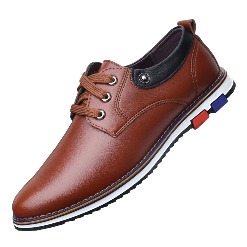 The spring and Summer black men's casual  lace shoes business round - Men's Shoes