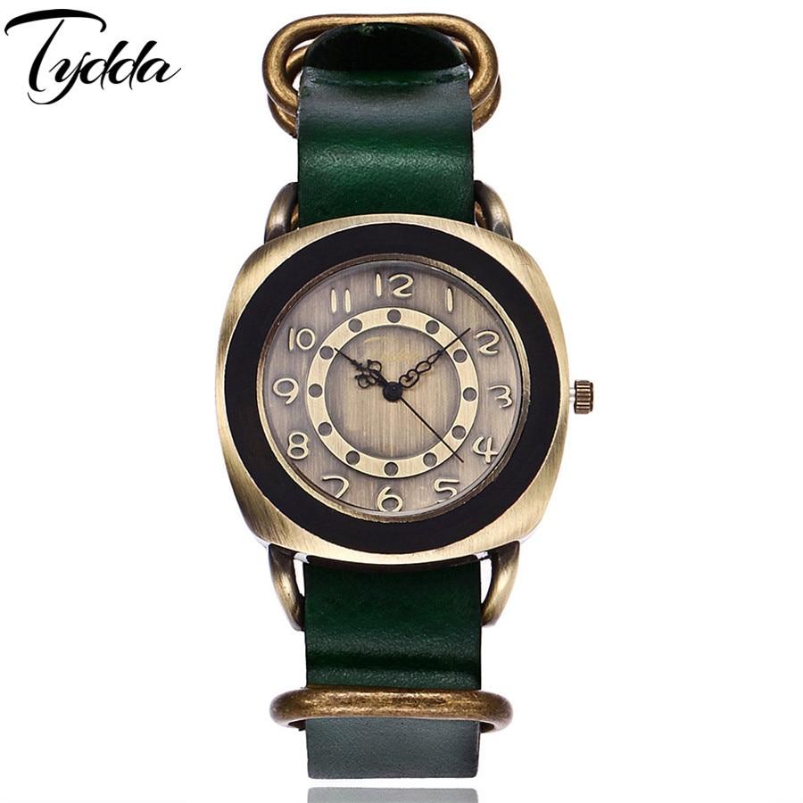 Tydda merk damesmode creatieve lederen armband horloges casual - Dameshorloges - Foto 3