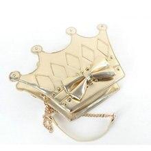 Frauen personalisierte crown handtasche 3 way tragen lolita geformt royal kette umhängetasche rosa bogen diamant niete kreative geschenk