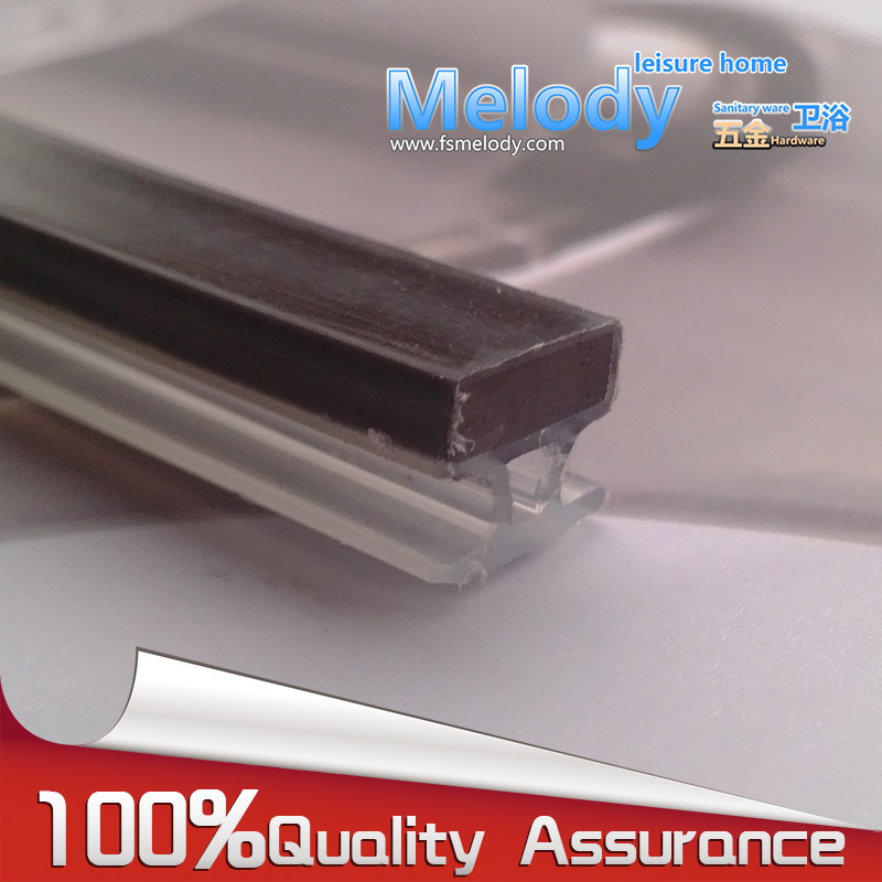 308E 8 Shower room sliding door Penetration type Magnetic Rubber Stripe seals 2.2m length fitting replacement(8*9)
