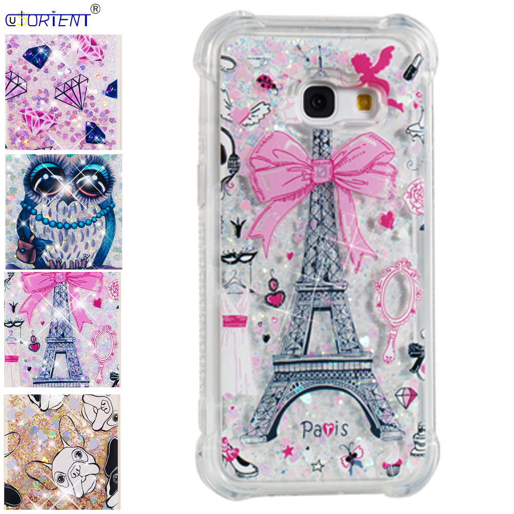 Fitted Case For Samsung Galaxy A3 2017 Bling Glitter Liquid Quicksand Silicone Cover Sm-a320f/ds Sm-a320x Sm-a320fl Phone Funda Phone Bags & Cases Cellphones & Telecommunications