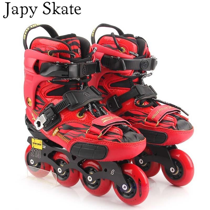 Prix pour Jus japy Skate 2015 POWERSLIDE S4 Inline Patins Professionnel Slalom Patins Rouleau Adulte De Patinage Chaussures Coulissante Livraison De Patinage Patins