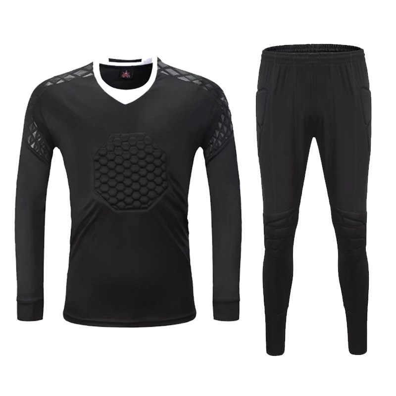 2018 Новый Survetement футбольный Вратарский трикотажный комплект, футбольный тренировочный костюм, Защитные комплекты Вратарские униформы