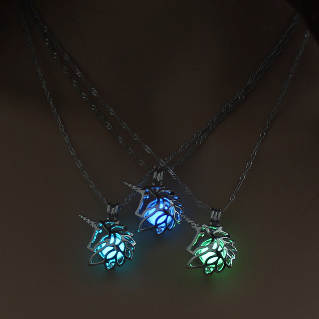 Hecarim Glow in the Dark necklace LOL Hecarim HORSE Horse silver Chain Jewelry P