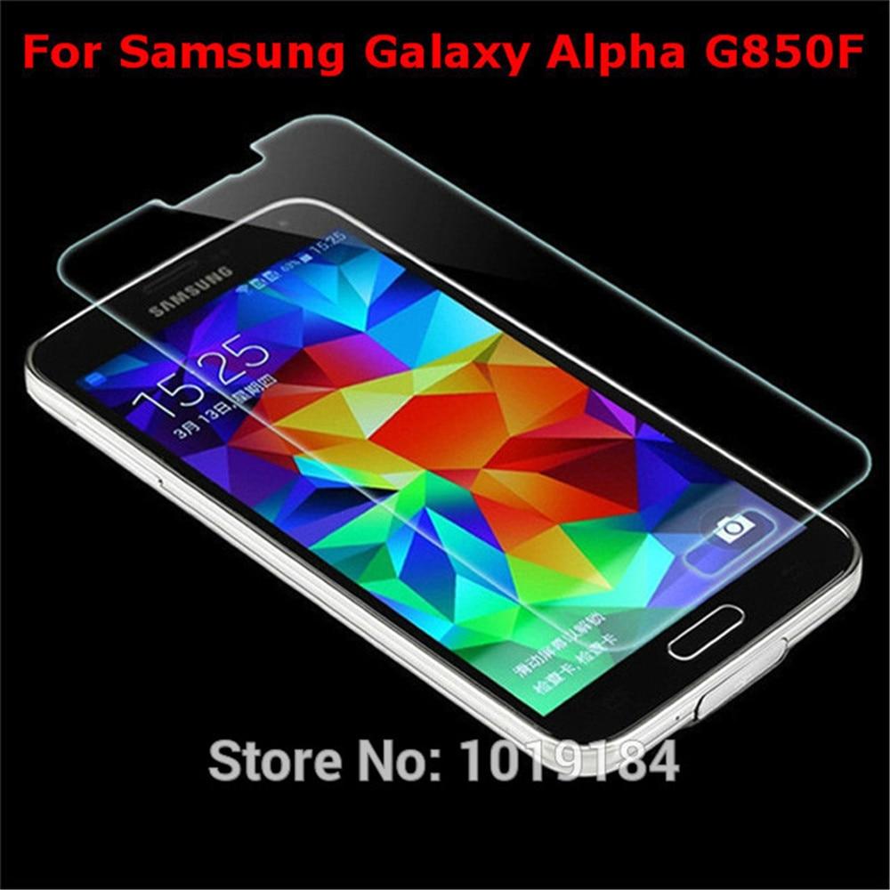 2.5D Premium Tempered Glass For Samsung Galaxy Alpha Alfa G850 G850F Anti-Shattered glass film retail box
