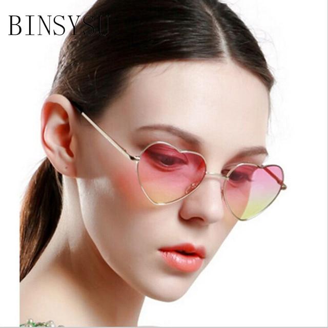 6f402ca012 Forma de corazón Marco de gafas de sol de diseñador de las mujeres de color  de