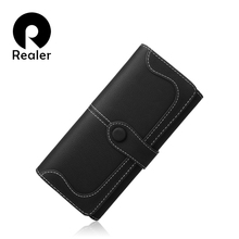 REALER  women Long Zipper Purse Card Holder Clutch Bag Women