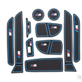 11 pcs/set Car Styling Interior Latex Gate Slot Pad Non-slip Cup Mat Accessories For BMW NEW 3 series F30 F35 320li 316i 328