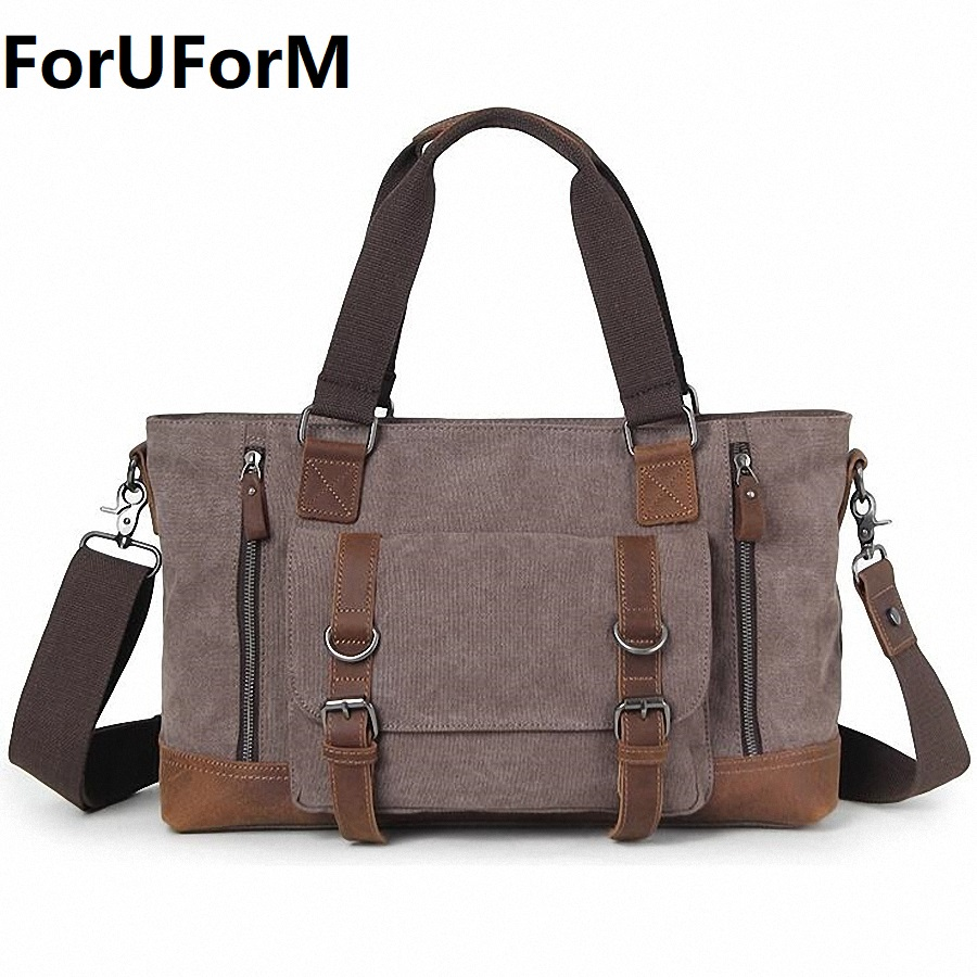 Men's Canvas Crossbody Bag Military Shoulder Bags Vintage Messenger Bag Fashion Large Bag Tote Business Briefcase LI-2028 vintage crossbody bag dark khaki canvas shoulder bags men messenger bag man casual handbag tote business briefcase for computer
