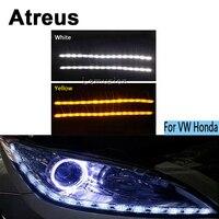 Atreus 2X Car LED Crystal water lamp DRL Daytime running light 12V For Volkswagen VW Polo Golf 4 5 6 7 Passat B5 B6 Touran Honda