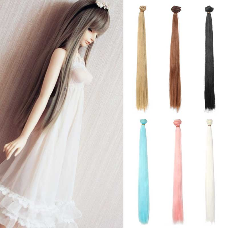 3PCS/LOT Wholesale 50CM High Temperature Wire Handmade Doll Hair Wig DIY Hair For Dolls