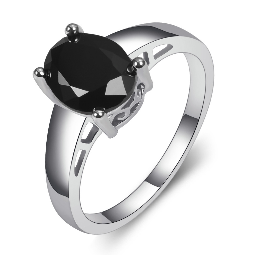 Black Onyx 925 Sterling Silver Fashion Jewelry Engagement Wedding Ring Size  5 6 7 8 9