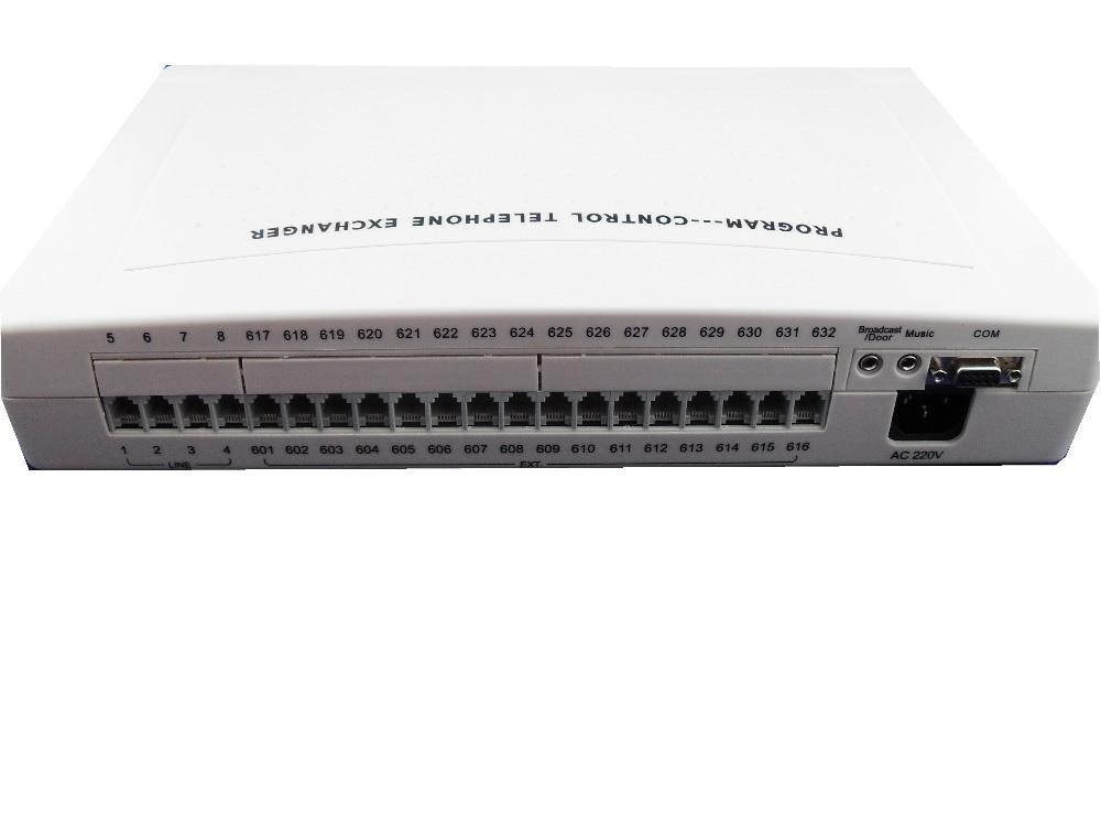 Chine téléphone commutateur/PBX téléphone système usine-VinTelecom CP416 PABX 4 Lignes/16Ext avec logiciel PC