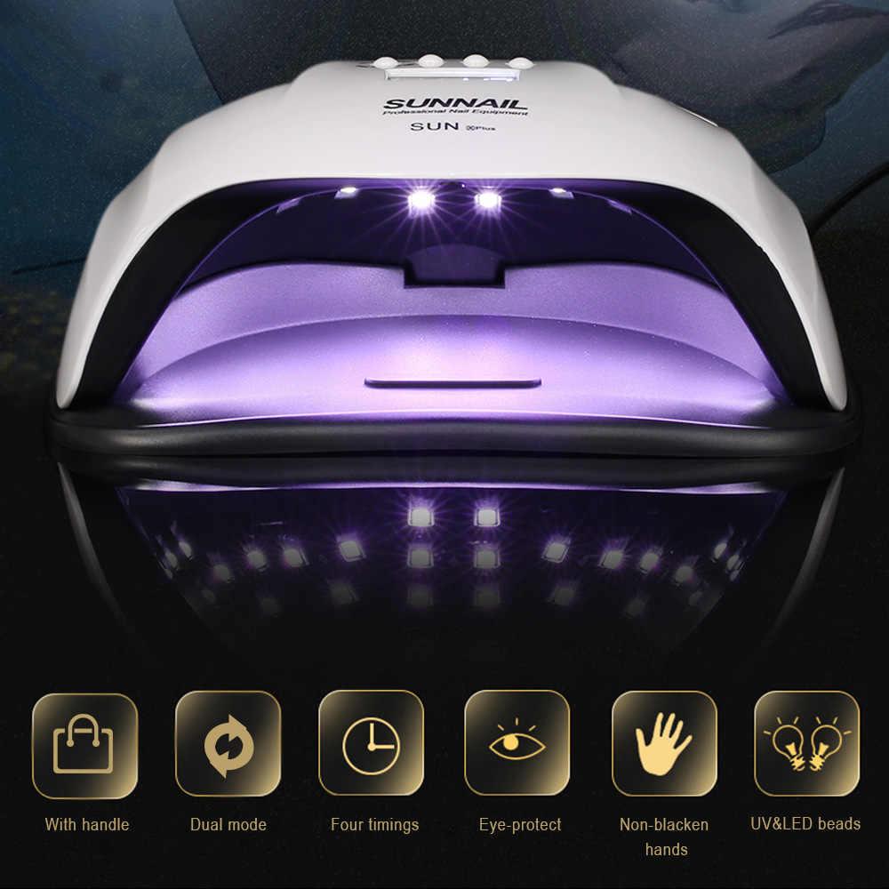 80 W UV LED נייל מנורת אור שמש לק מכונת לציפורני הציפורניים אשפרה ציוד נייל אמנות כלי נייל מייבש