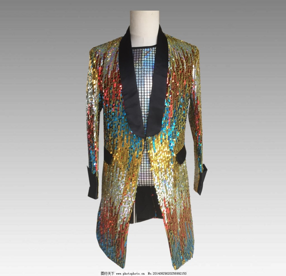 New Camouflage Men Suits Designs Long Blazer Stage Costumes For Singers Men Sequin Clothing Jacket Style Windbreaker Dance Coat