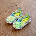 Nueva moda para niños red shoes shoes 2017 verano nuevo camuflaje del cabrito niños y niñas casual shoes