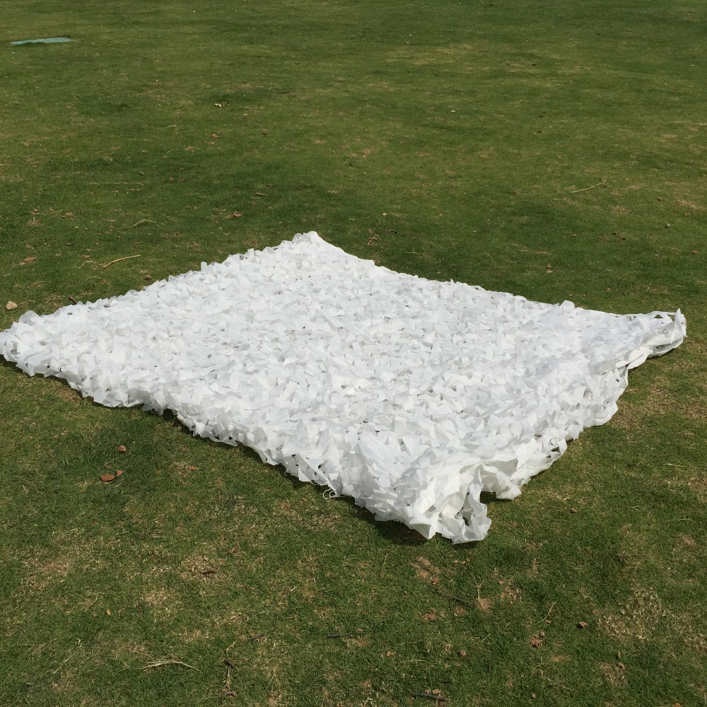 4M x 6M (13FT x 19.5FT) white Camouflage Netting White Army Sun Shelter Camo Net for Hunting Camping beach club sun shelter цена