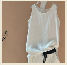 New 2017 solid white summer vest female bottoming outer wear white lace sleeveless T-shirt bottoming shirt Slim female 2016 87C