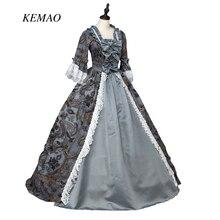 Marie Antoinette Colonial Mascarade victorienne brocade période robe robe de théâtre Steampunk partie robe de bal