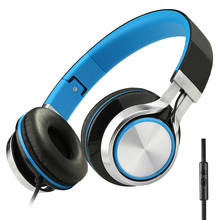 Sound Intone HD200 Stereo Bass Phone Headphones with Microphone Foldable Wired High Quality Brand Computer Headsets Earphones
