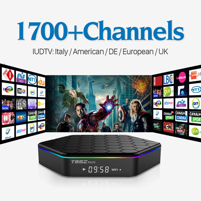 T95Z Plus Android 6.0 IPTV Smart TV Set Top Box Amlogic S912 Octa Core Cortex A53 2G/16G WiFi H.265 4K Play Stream Media Player