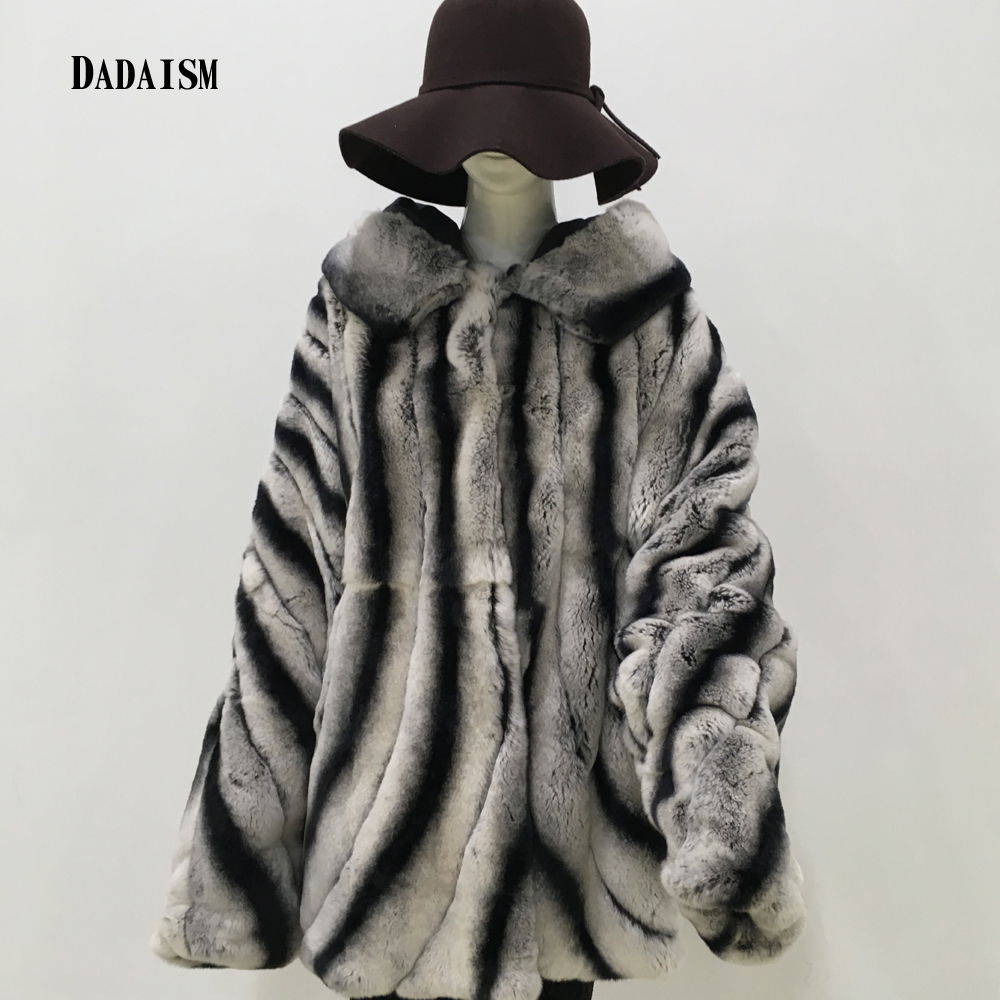 2018 nuove donne cappotto di pelliccia Del coniglio del Rex capelli tipo pipistrello pieno cappello di pelliccia collare maniche lunghe giacca a vento Britannico trasporto libero