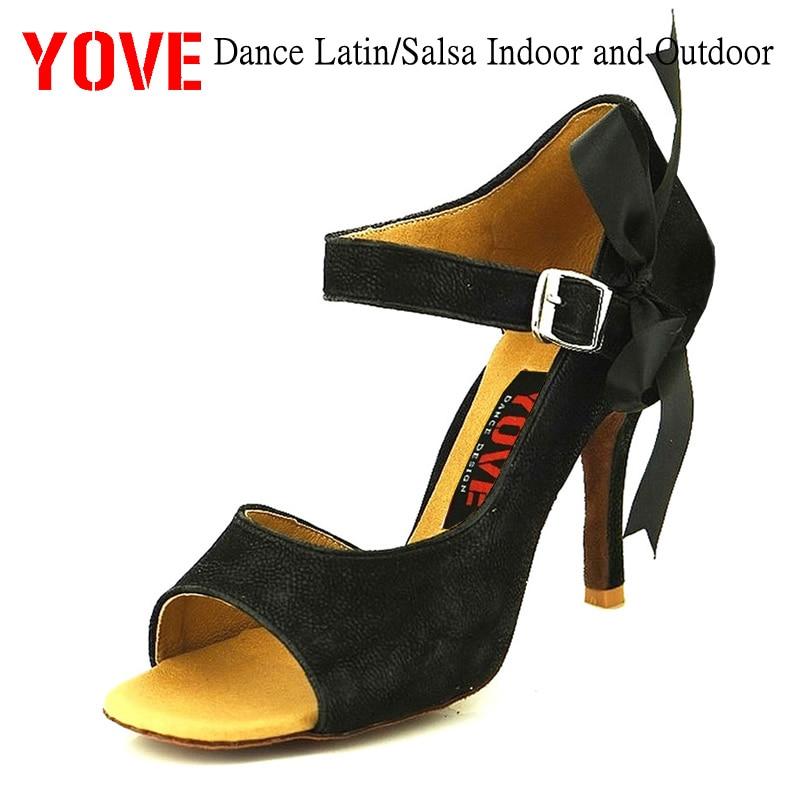 YOVE Style w122-1 Dansschoenen Bachata / Salsa Dansschoenen voor binnen en buiten voor dames