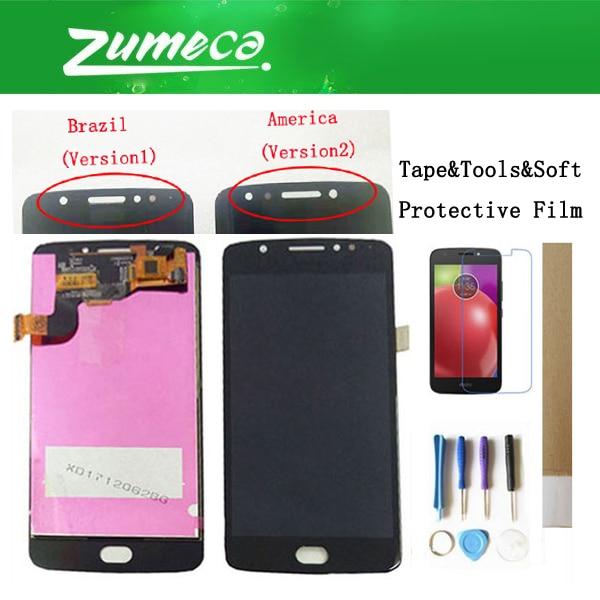 Para Motorola E4 XT1762 XT1763 XT1766 XT1767 Moto E4 LCD Screen Display + Touch Screen Digitador Assembléia Negro Cor Ouro + Kits
