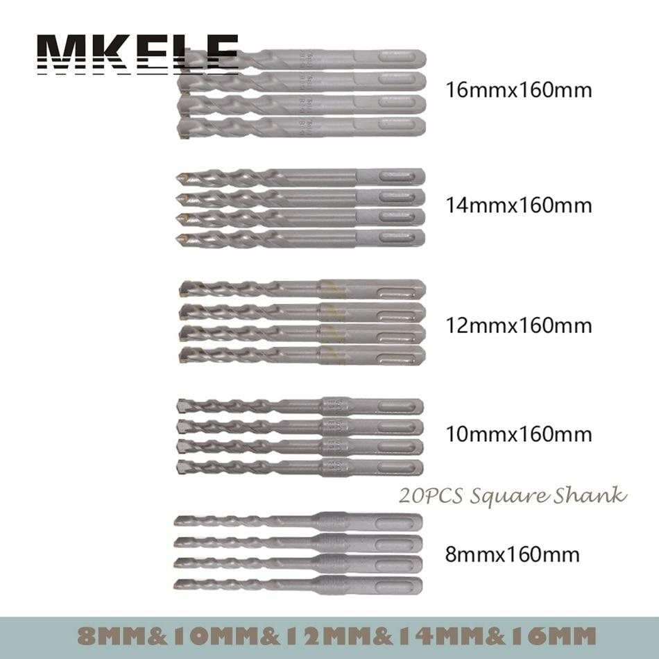 ФОТО 20Pcs/Set Twist Drill Bit For Metal 40CR Chrome-vanadium Steel Drilling Woodworking 8/10/12/14/16mm Herramientas Power Tools