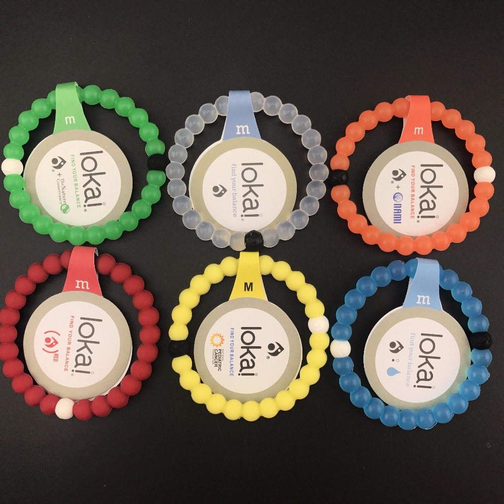 50pcs/lot ePacket Free shipping silicone lokai bracelets Unisex jewelry find your balance