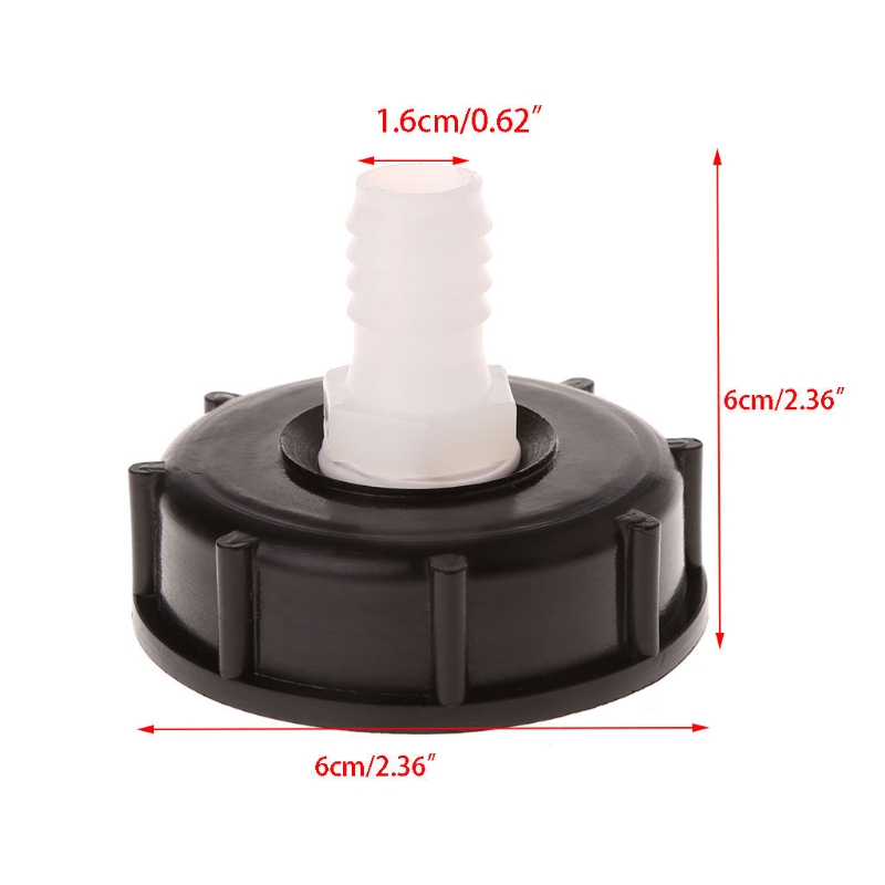 Hign Quality IBC Tote Tank Food Grade Drain Adapter 2.36 Coarse Thread To 16mm Hose Faucet Valve New цена