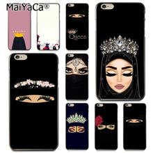 MaiYaCa Muslim islamic gril eyes hijab drawing Coque Phone Case  for iphone 11 Pro XR XS Max 8 7 6 6S Plus X 5 5S SE babaite muslim islamic gril eyes luxury hybrid phone case for iphone 8 7 6 6s plus x xs max 10 5 5s se xr coque shell
