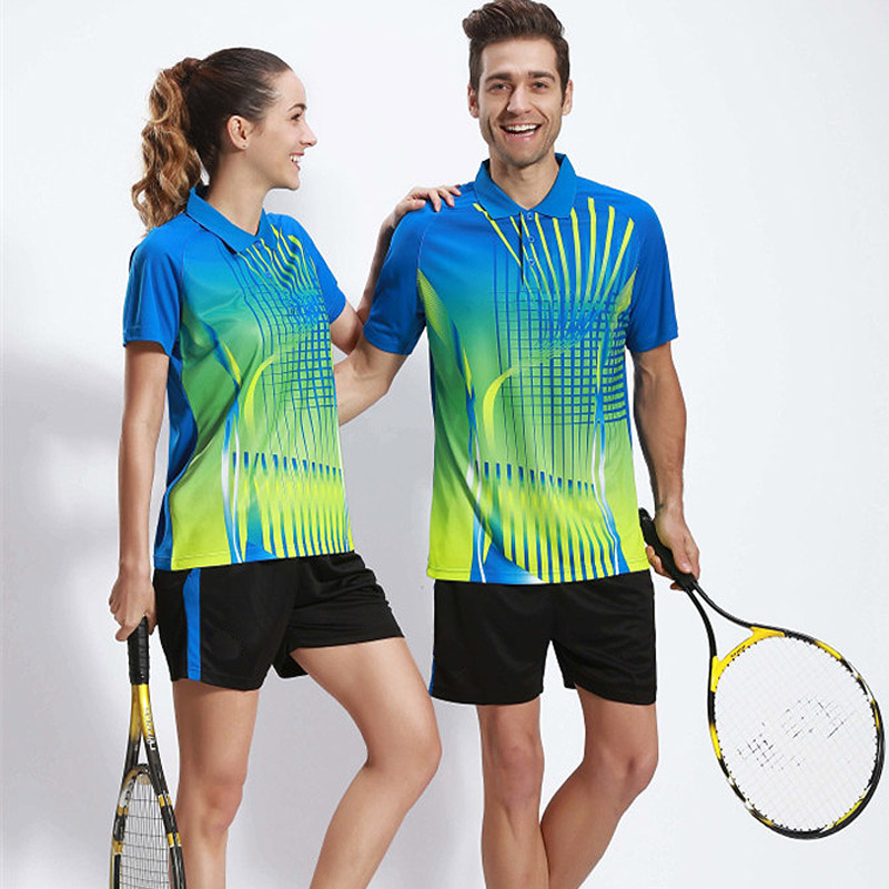 Sport mezek férfiak nők asztalitenisz ruházat póló rövid ujjú ing pingpong Jersey tollaslabda tenisz edzőruha