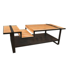 French rustic loft can be customized American retro style wrought iron coffee table wood coffee table tea table tea table coffee