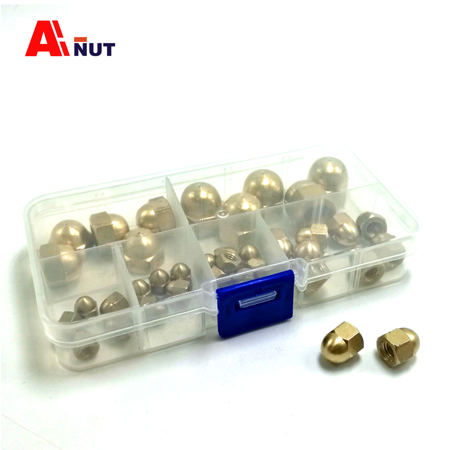 m3 m4 m5 m6 m8 m10 copper acorn nuts kit , antirust brass acorn nut High quality fasteners