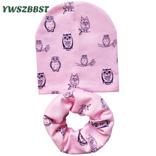 Cute Owls Baby Boys Hat Baby Girl Hats Cotton Fashion Infant Toddlers Hat Scarf set Kids Beanies Children Cap Scarf Collars все цены