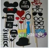 Set Of 31 Mustache On A Stick Wedding Party Photo Booth Props Photobooth Funny Masks Bridesmaid