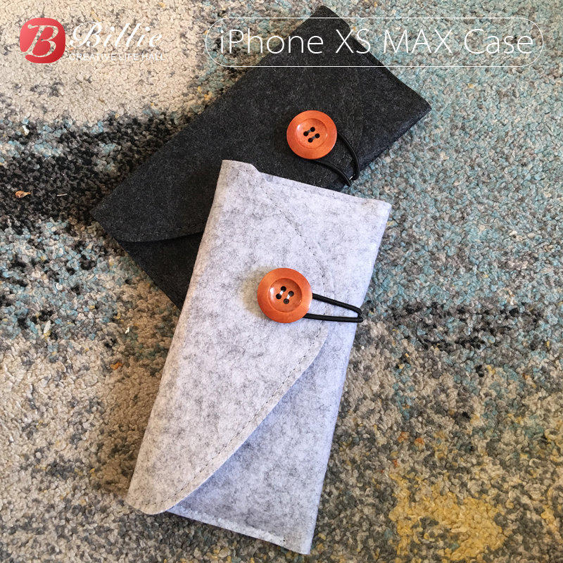 Mobile Phone Pouch Wool Felt Purse Case Bag For IPhone XS 5.8-inch Mobilephone Pouch Sleeve Bag Cover For Iphone Xs Max 6.5inch