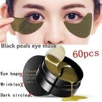 Маски для глаз уход за кожей 60 шт черный жемчуг гелевая маска коллаген кристалл маска для глаз патч темный круг, век против морщин линии