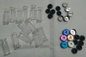 Image 1 - 500 teile/los 10ml Fläschchen Mit Gummi Stopper Flip Off Kappen Oder Al Kappen Glas Flaschen
