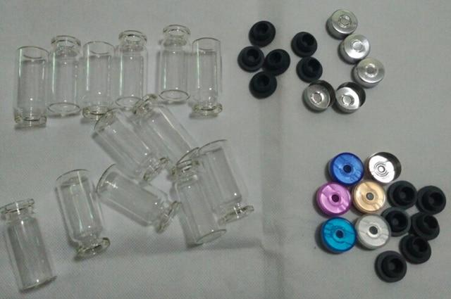 500 teile/los 10ml Fläschchen Mit Gummi Stopper Flip Off Kappen Oder Al Kappen Glas Flaschen