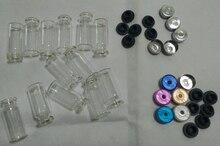 500 unids/lote 10ml viales con tapón de goma de Flip tapas o Al tapas de botellas de vidrio
