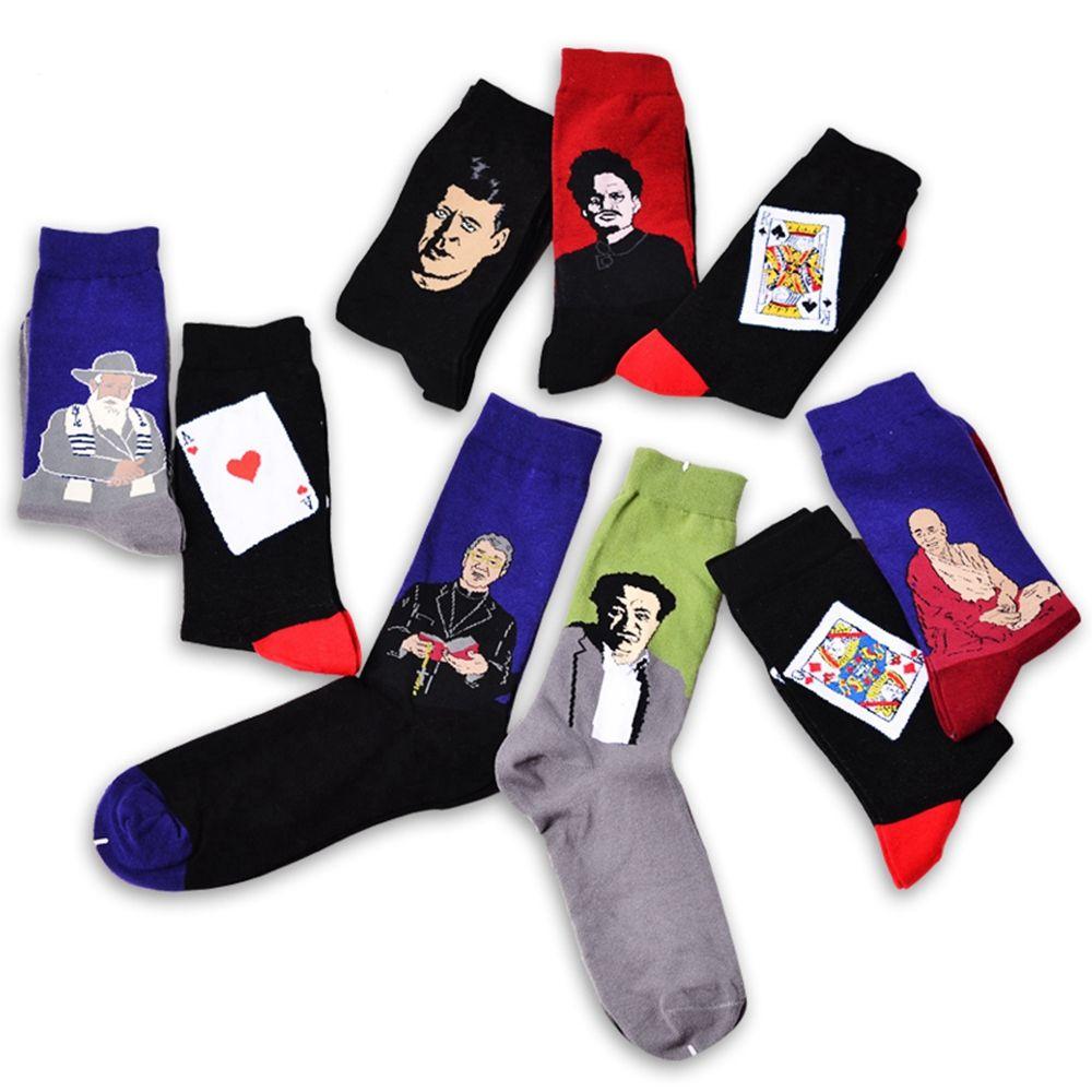1 Pair Fashion Men Women Painting Art Short Sock Funny Novelty Mid-calf Ankle Vintage Socks