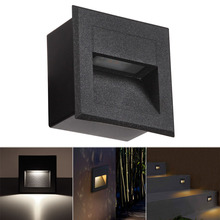 Outdoor LED Step Light Waterproof Stair Wall Embedded Underground Lamp Lighting Deck Footlights 85-265V IP65 85mm/58mm