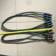 ความยาว 1 เมตร 3 pin dmx in และ out การเชื่อมต่อสัญญาณ DMX สาย 3.5ft XLR สำหรับขาย