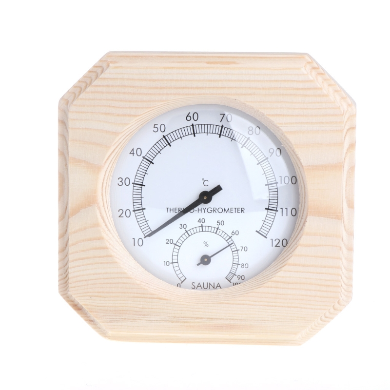 Sauna Room Wood Thermometer Hygrometer Hygrothermograph Temperature Instrument free shipping high quality sauna accessory cartoon design sauna equipment thermometer hygrometer